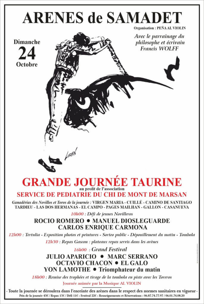 This image has an empty alt attribute; its file name is affiche-festival-taurin-samadet-2021-685x1024.jpg
